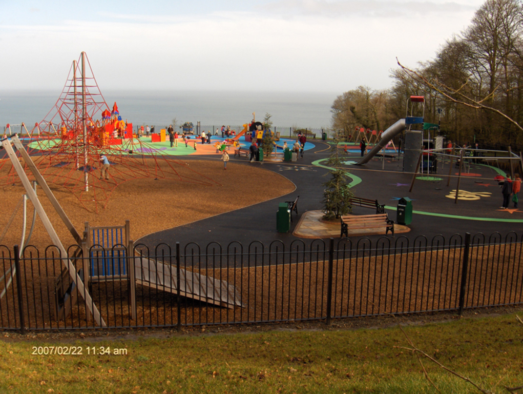 Large adventure playground 10 minutes drive away