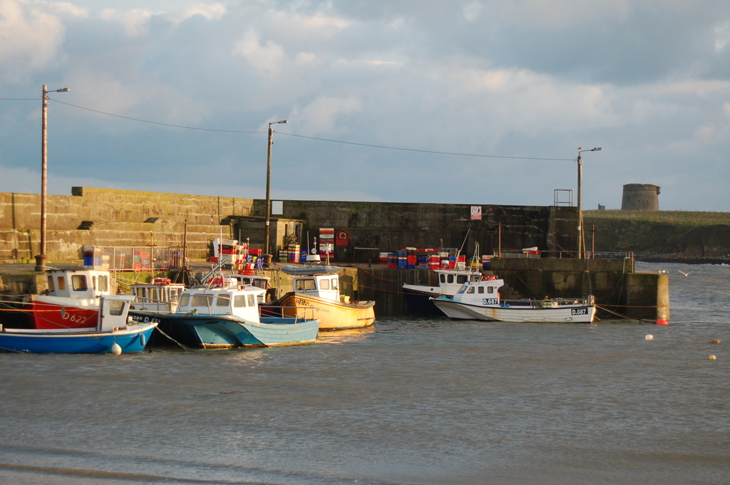 Loughshinny harbour which is a 3 minute drive away or 30 minutes via a coastal walk.