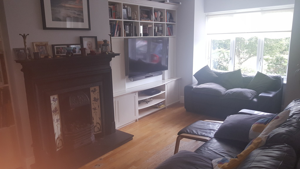 smart tv with sky/dvd/soundbar/moviebox