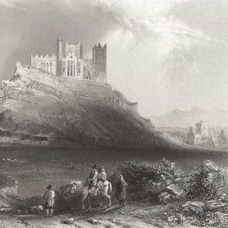 Old photograph of the Rock of Cashel