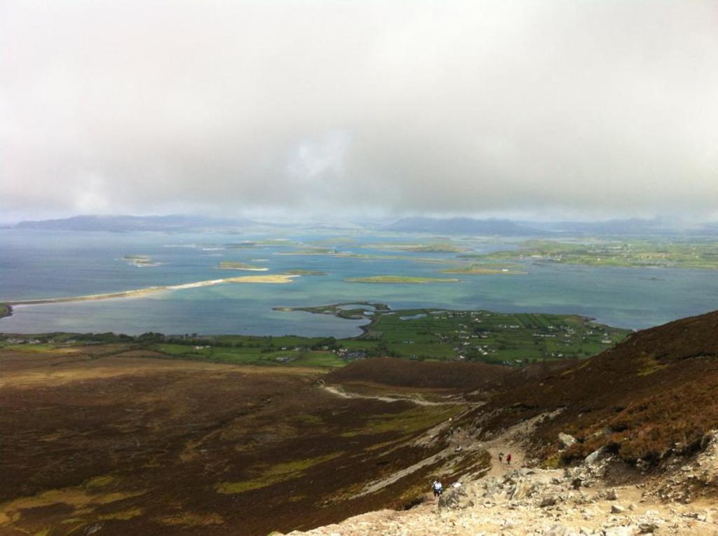 The view from the top of Croagh Patrick