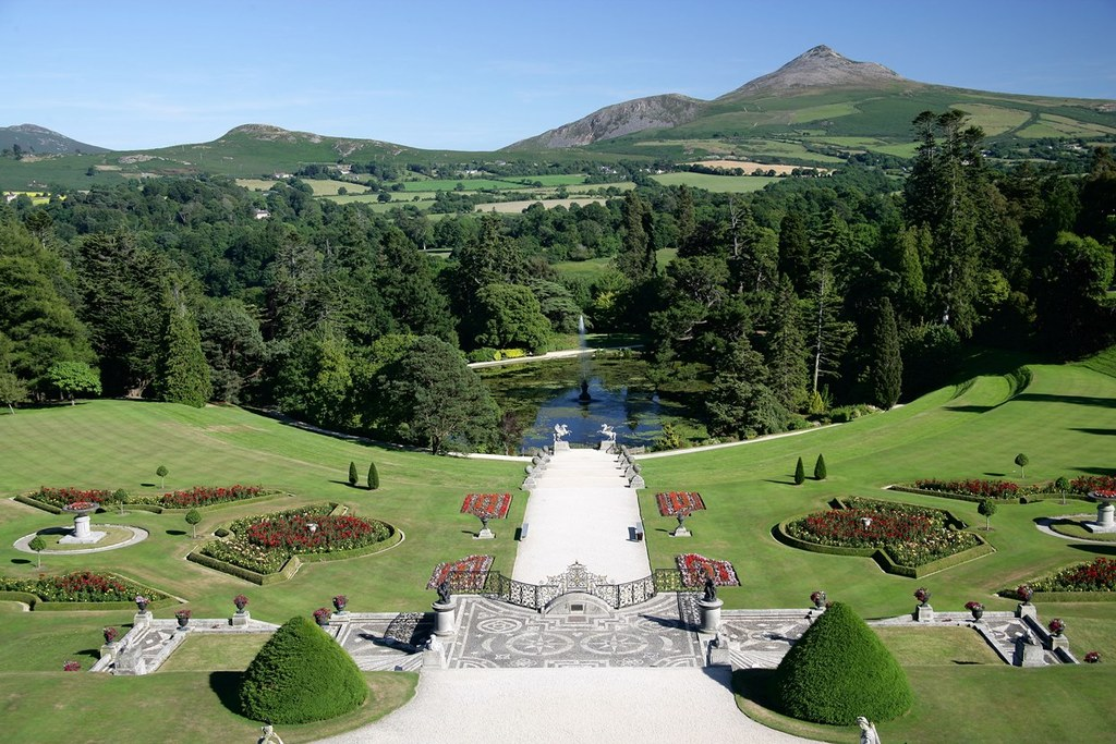 View from Powerscourt House towards Sugarloaf Mountain, which is close to our house
