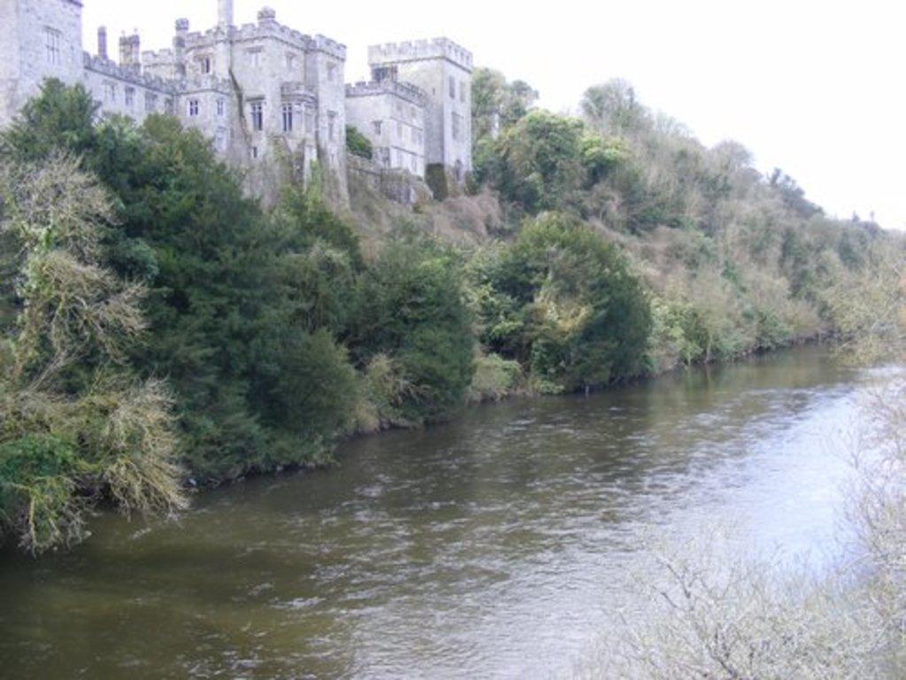 Beautiful Blackwater river flowing beside Lismore Castle