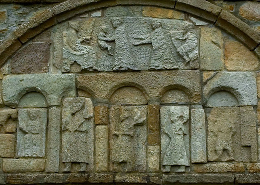Engravings on St Declan's Cathedral