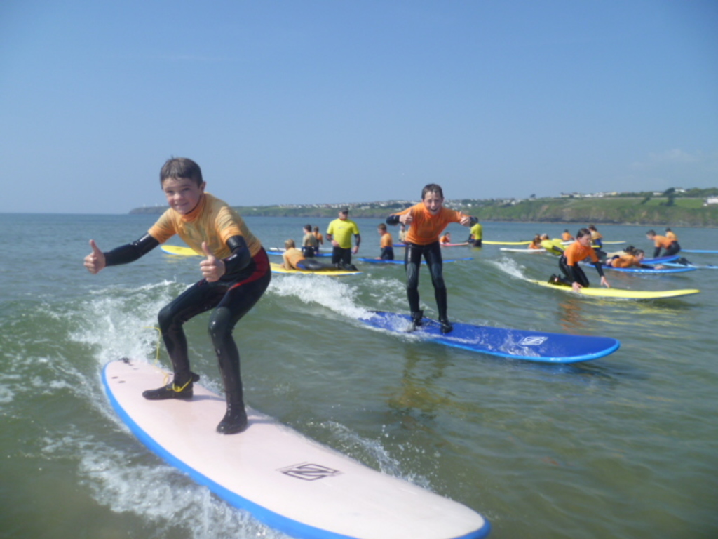 Surfing in Tramore