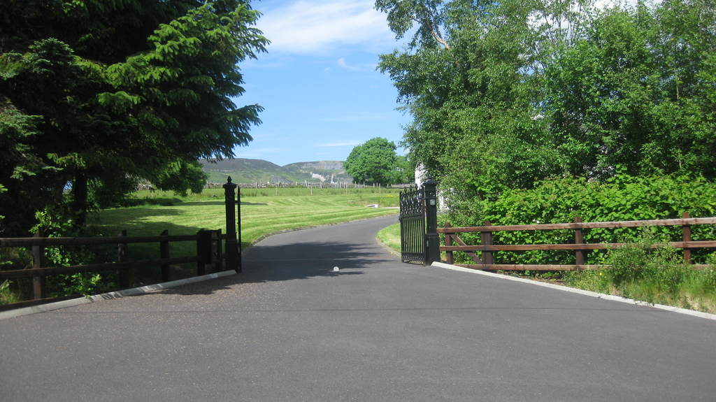 Driveway with Automatic Gates