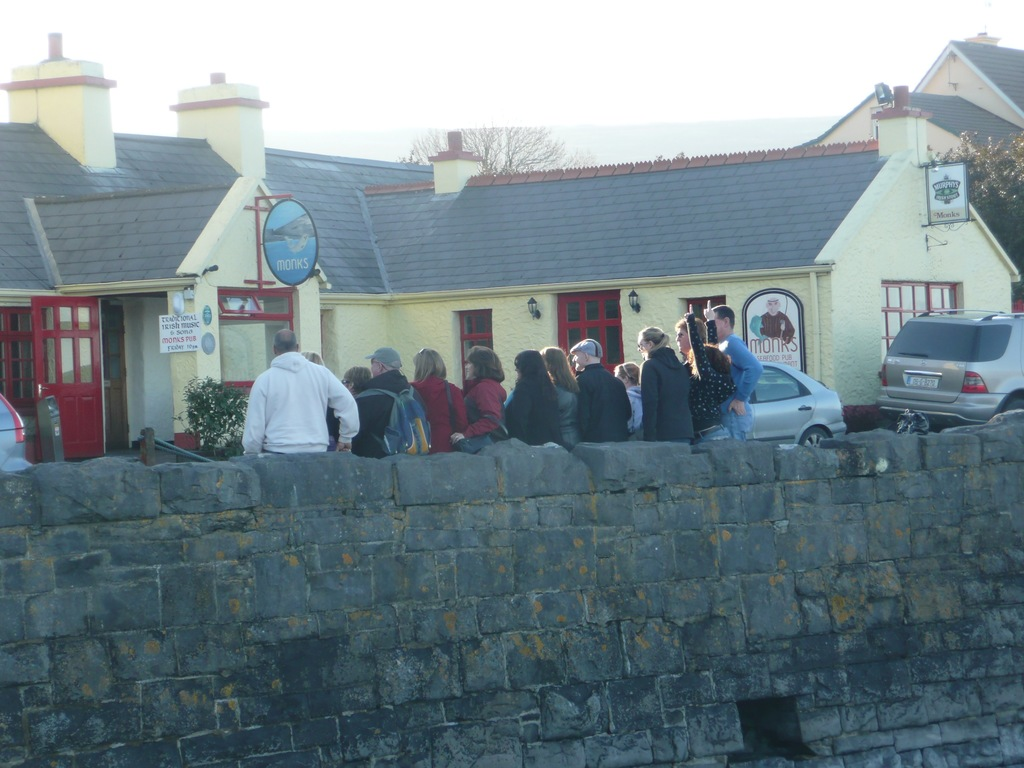 """Outsie the pub"" at Ballyvaughan pier"