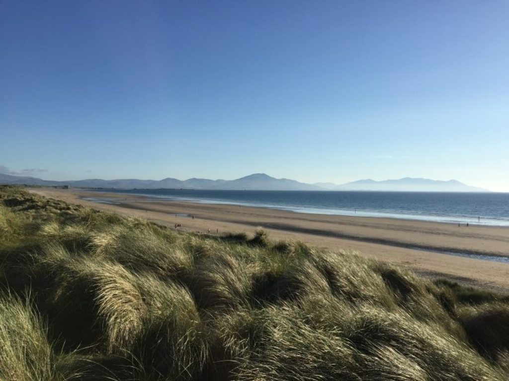 Banna Beach overlooking Tralee Bay and Brandon Mountains