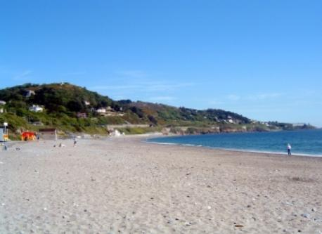 Killiney beach in Dublin; half an hour away by car