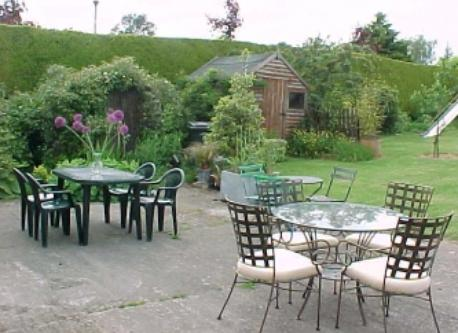 Back Garden dining area at Kildare home.