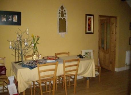 Dining room at the cottage.