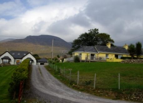 Sliabh Mish mountains behind the cottage, Co. Kerry.