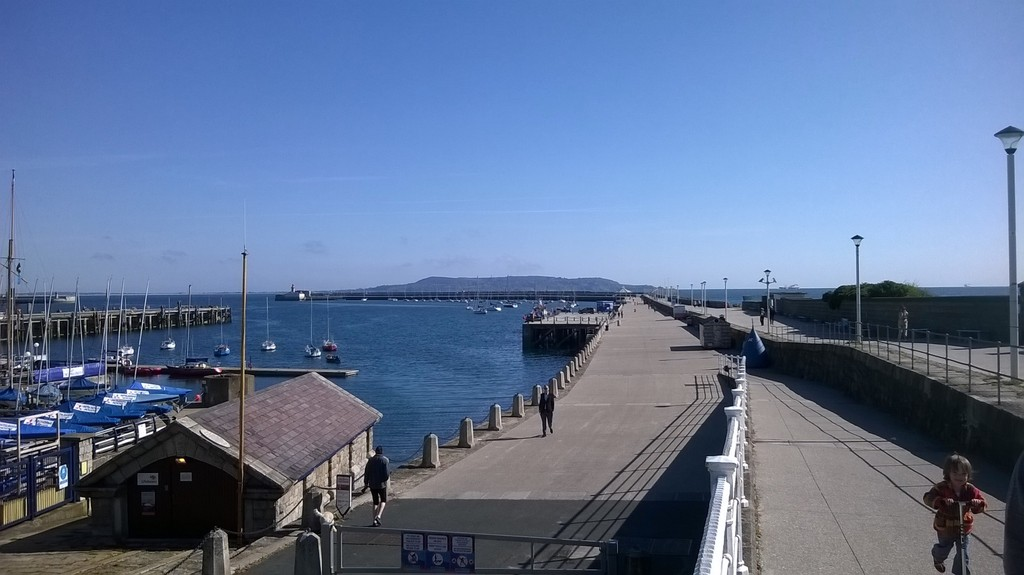 Walking the pier at Dun Laoghaire
