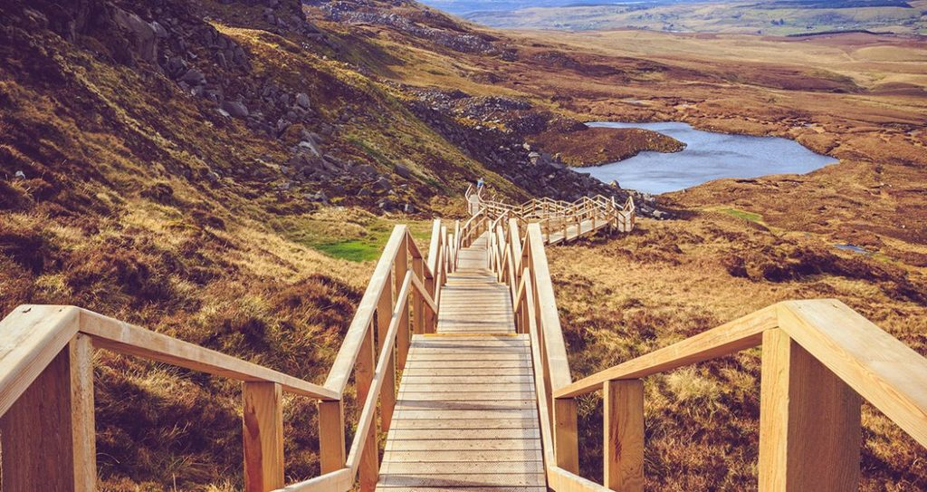 The Cuilcagh Way is a fantastic waymarked route in Co. Fermanagh, Northern Ireland and is a 45 minute drive from Dromahair.