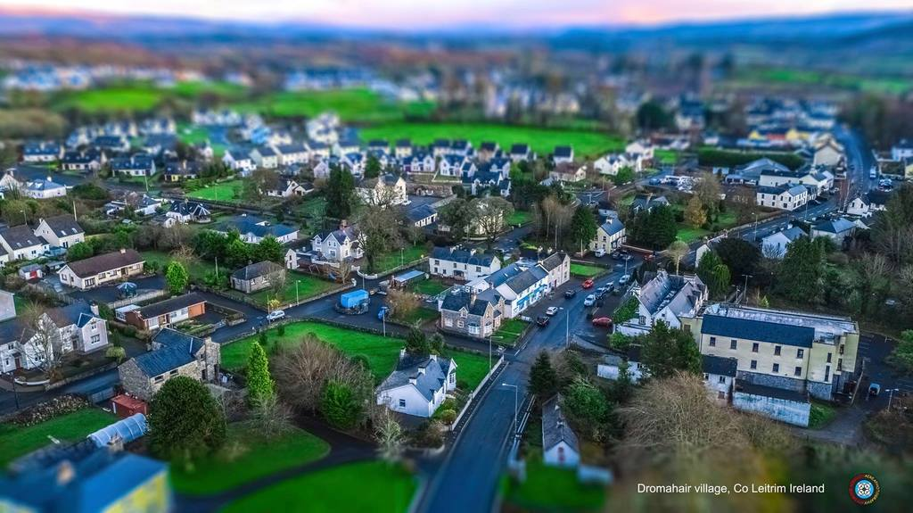 Aerial photo of our village, Dromahair