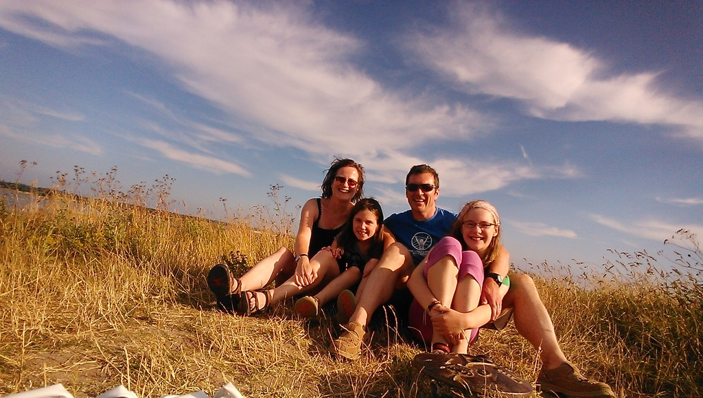 Our family on an exchange holiday in Denmark in 2013.