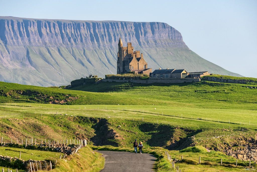 Classiebawn Castle & Benbulben Mountain. Mullaghmore, Co. Sligo