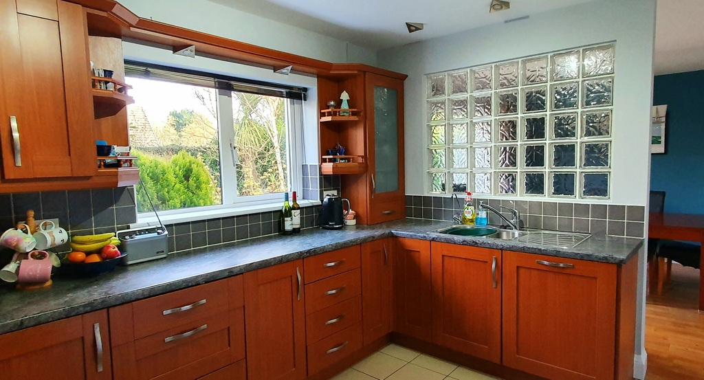 Kitchen with Dining Room behind