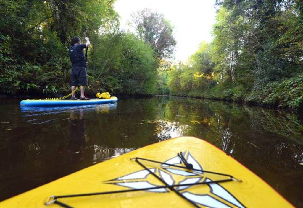 Stand Up Paddling (SUP) along the River Bonet in Dromahair.