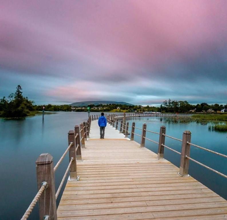 The floating board walk at Acres Lake, Drumshanbo, Co. Leitrim. (25 mins)