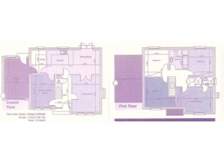 Floor plans of our house. (Both the large bedrooms actually have en-suite bathrooms).