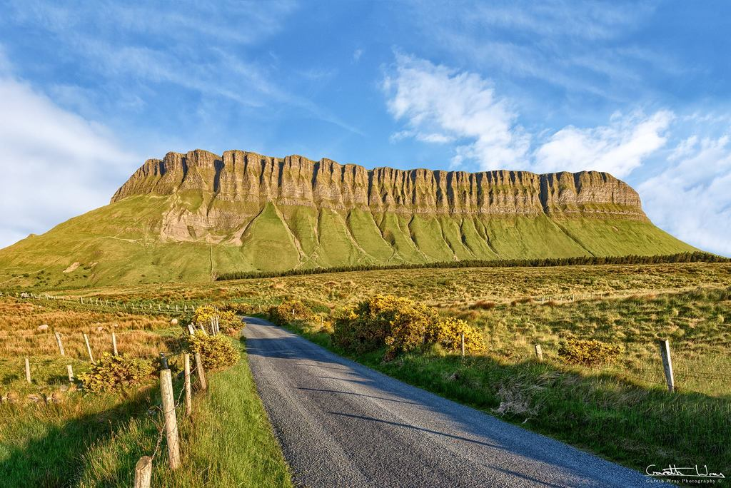 "The distinct shape of Ben Bulben also known as ""Table Mountain"" is a true symbol of County Sligo. 40 mins drive from Dromahair"