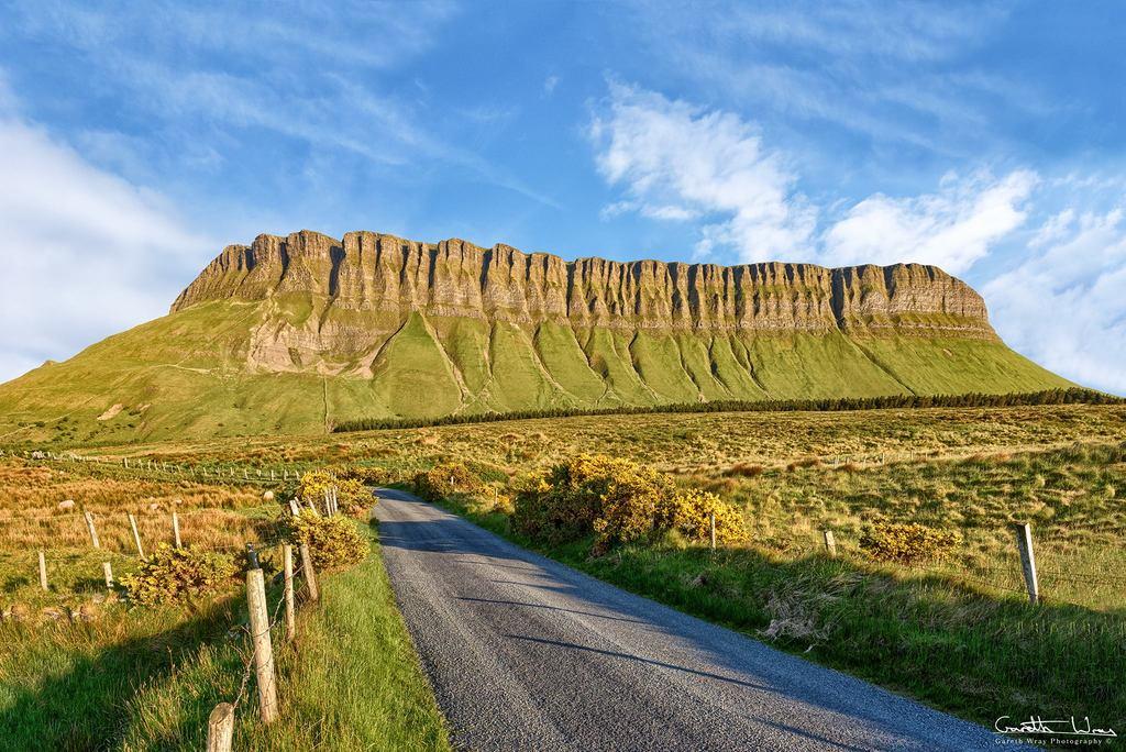 The distinct shape of Ben Bulben is a true symbol of County Sligo (40 mins)