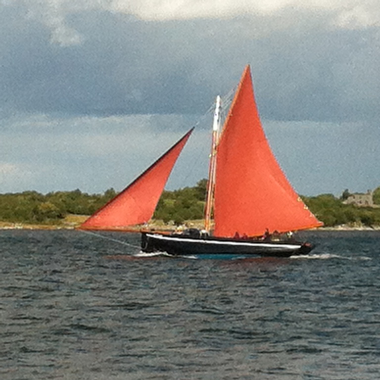 Traditional Galway hooker boat