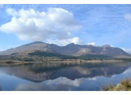 Connemara mountains & lakes are close by