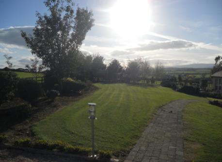 View from garden retreat