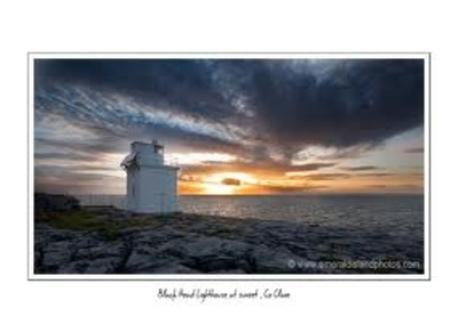 Blackhead, the Burren at sunset at the northwest tip of Clare