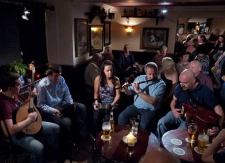 A traditional  irish music session in Ennis