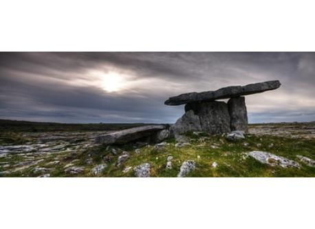 Poulnabrone in the Burren is 50 minutes from Quin