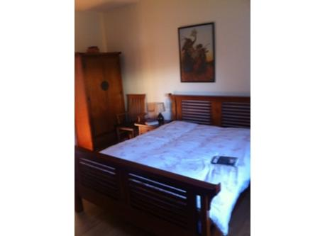 Down stairs bedroom en suite with a double  bed