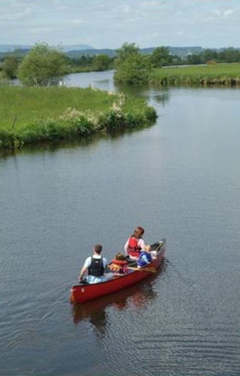 Canoeing on the river Blackwater, 15 minutes away.