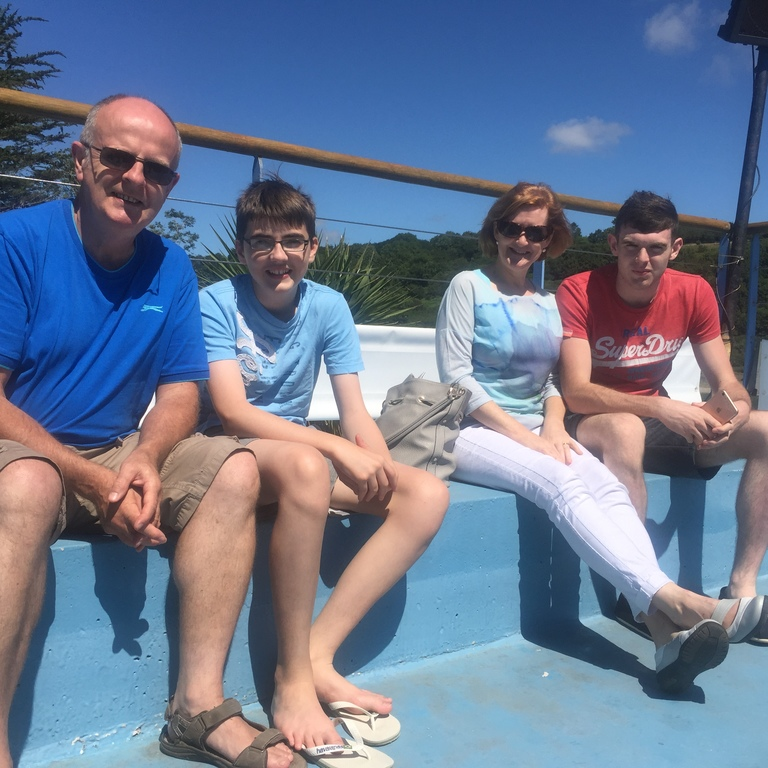 Lavin family during Brittany exchange, Aug. 2016
