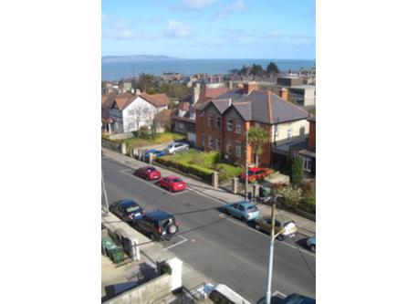 View of my road and the sea, from my front window