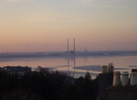 Looking towards Dublin city one evening