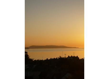Howth head - Dawn. Photo taken from bedroom window