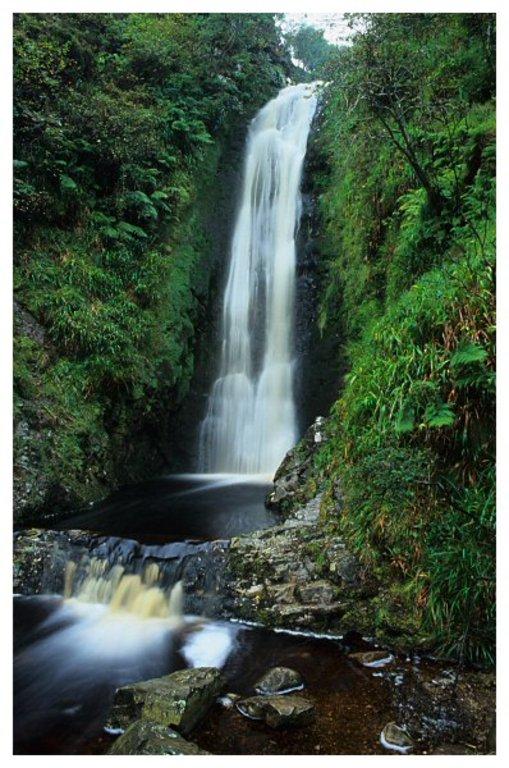 Glenevin Waterfall (10km) [ © Andy McInroy www.skyandstone.com ]