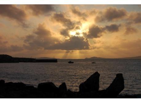 Cleggan Bay storm clouds