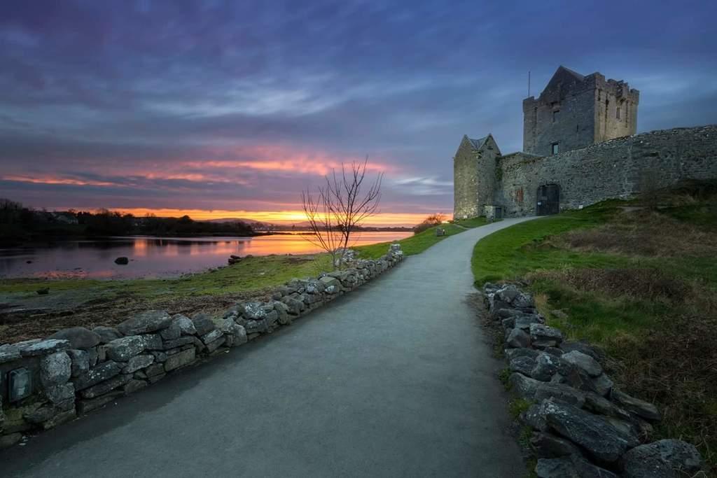 Dungarees castle kinvara at sunset
