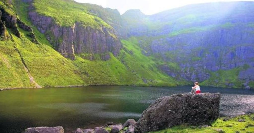 Crotty's Lake in the Comeragh Mountains 20 min drive + 30 min hike
