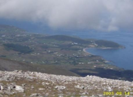 Louisburgh and Old Head from summit of Croagh Patrick