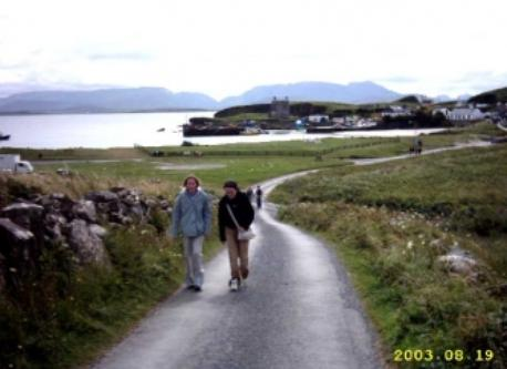 Walking on Clare Island (20 minutes by ferry)