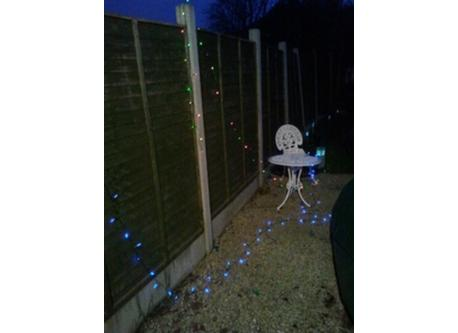 Back Garden With Solar Lights