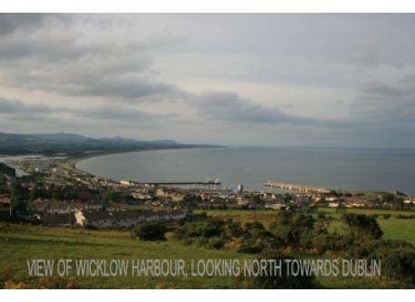 View of Wicklow Town from the South end of the town.