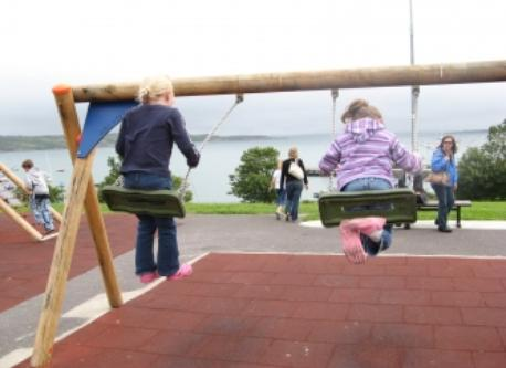 Schull Playground overlooking the harbour