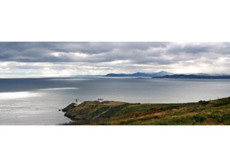 Howth Head overlooking Dublin Bay with the Wicklow Mountains in the distance