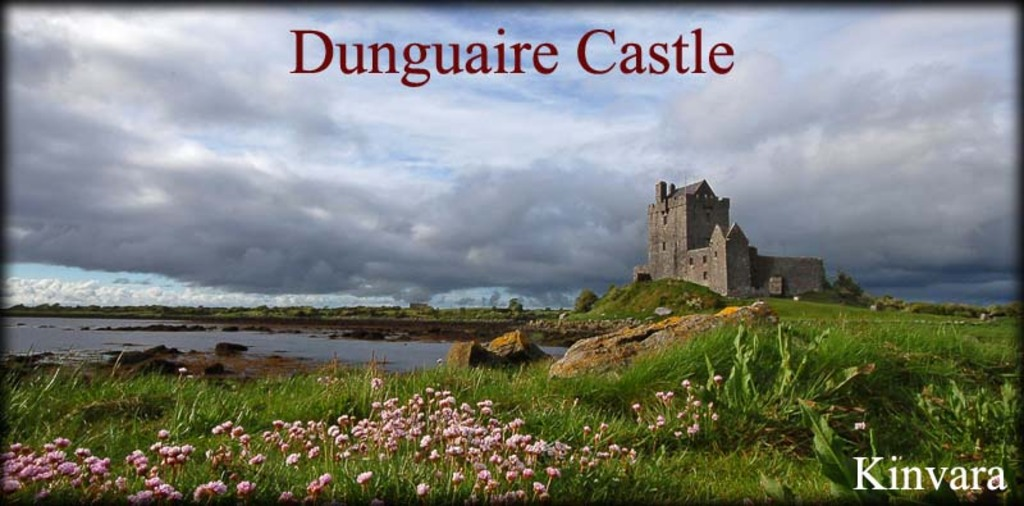 Dunguaire Castle, 10 minutes walk from our house
